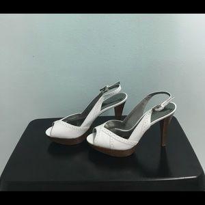 Peep Toe Sling Back Heels Adjustable Strap Sandals